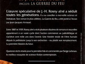 """Serge Lehman présente """"La Guerre des règnes de J.-H. Rosny aîné inclus : La Guerre du feu"""" (Bragelonne - 2012)"""