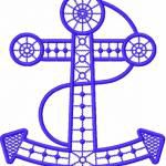 Anchor free embroidery design