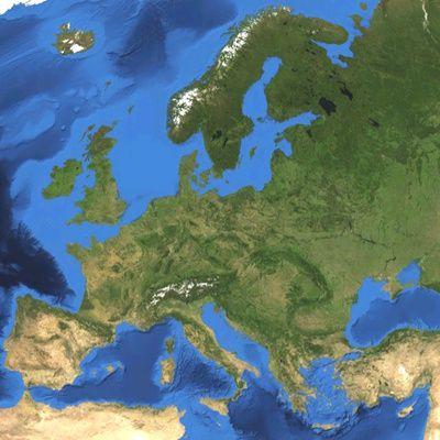 Europe: carte géographique des 27 états membres de l'Union Européenne