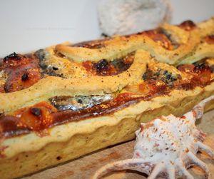 Tarte Fromagère à la Sardine et aux Oignons Caramélisés