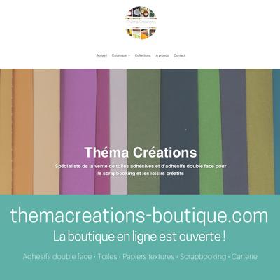 themacreations-boutique.com : achetez vos adhésifs, toiles et papiers quand vous le souhaitez !