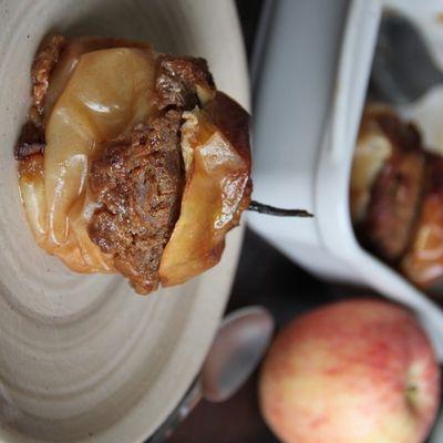 Pomme au four aux spéculoos