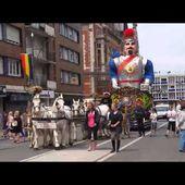 Défilé des Géants du Nord à Dunkerque le 28 Juin 2015