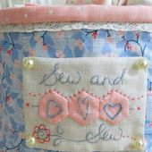 TUTORIAL fabric basket for the sewing room...