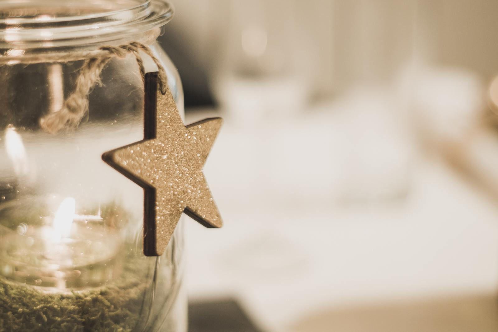 DIY Bougie mason jar de Noël
