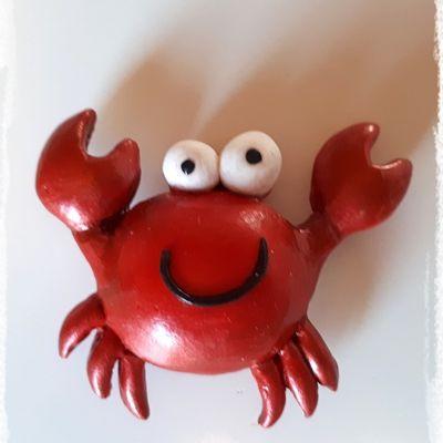 TUTO FIMO : Petit crabe magnet.
