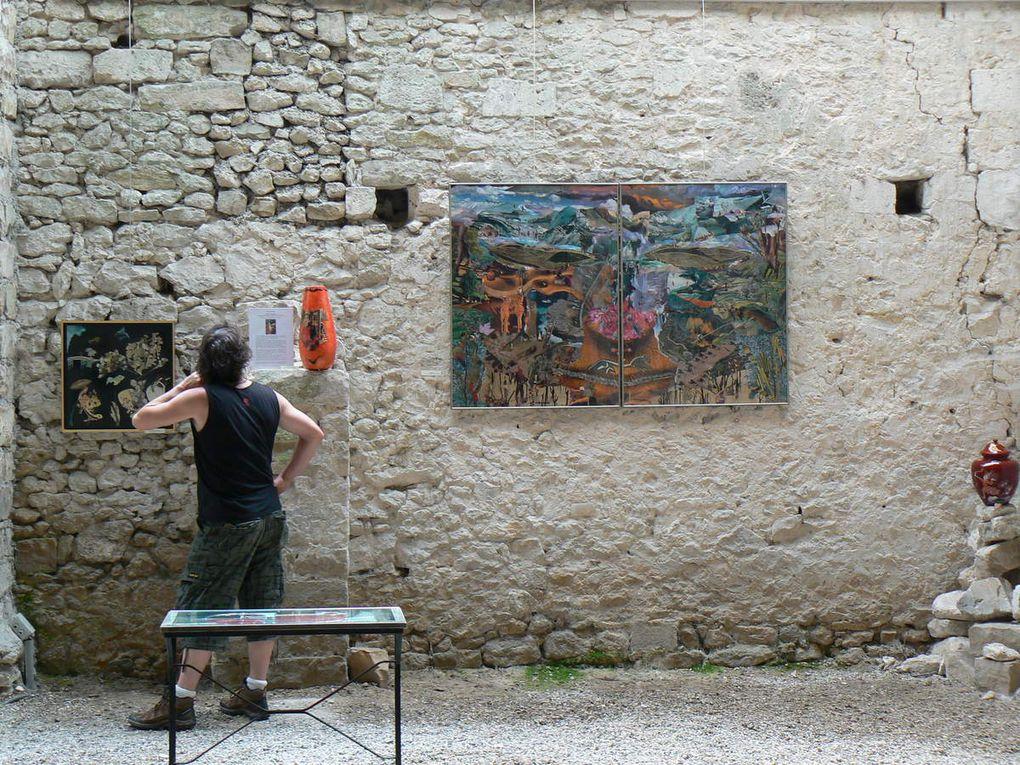 Exposition au Prieuré de Moret sur Loing en 2014 avec Isa André-Laclaverie, peintre, et Serge Elphège, sculpteur vitrail