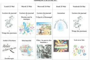 Planning semaine 21