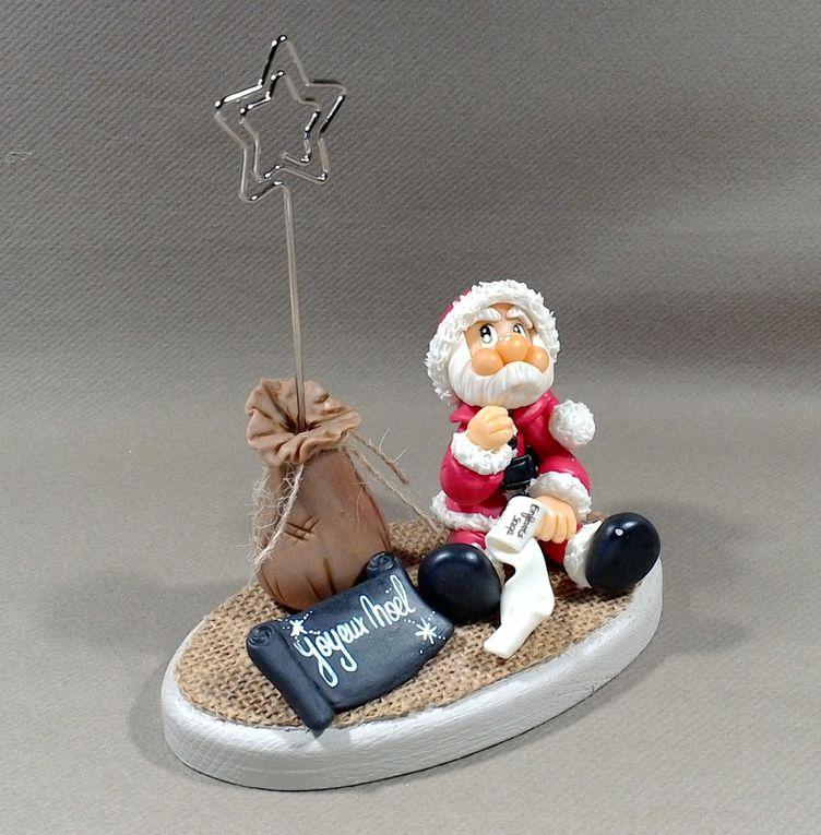 Porte-photo avec Père Noël