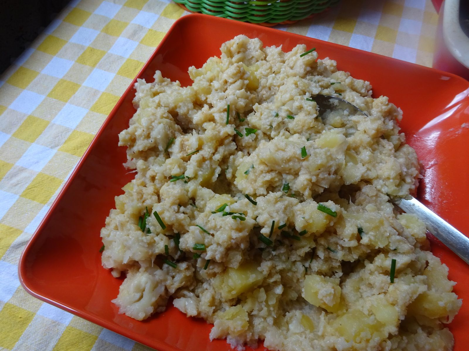 Ecrasée de pommes de terre et chou-fleur