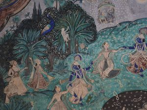 Peintures du Mahal - Bundi - Taragarh Fort - Photos:Lankaart (c)