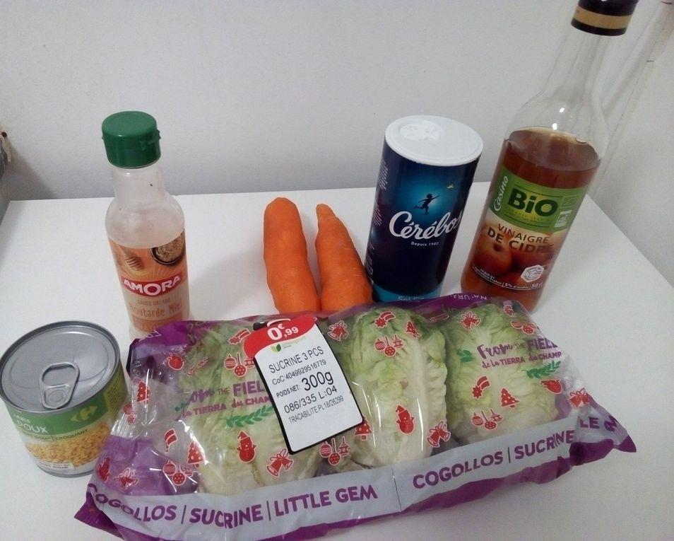 Salades carottes râpées mais