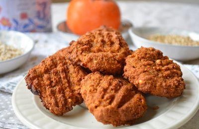 Biscuits au kaki, flocons d'avoine et graines de sarrasin