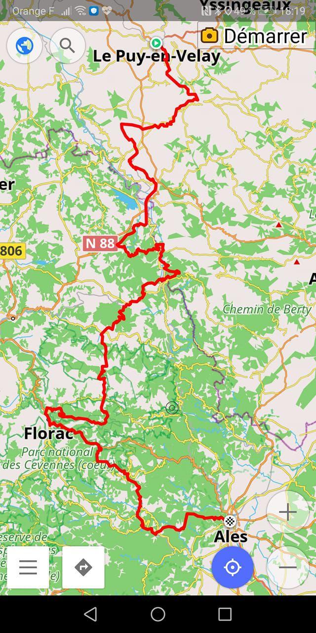 GR70 chemin de Stevenson, du Puy-en-Velay à Ales, en autonomie complète