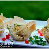 Pastilla au Confit de Canard et Foie Gras version bouchées apéritives - NUAGE DE LAIT