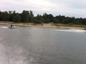 Vidéo - une bouée volante, tractée par un Jet Ski