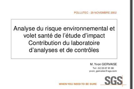 reedition ma conference Pollutec sur les fondements de la methode d'evaluation du risque environnemental et sanitaire