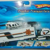 TRUCKIN' TRANSPORTERS - CAMION POLICE AVEC HELICOPTERE HOT WHEELS - car-collector.net