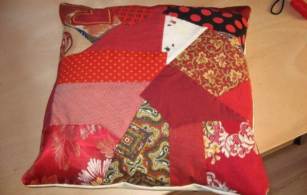 Coussins en patchwork