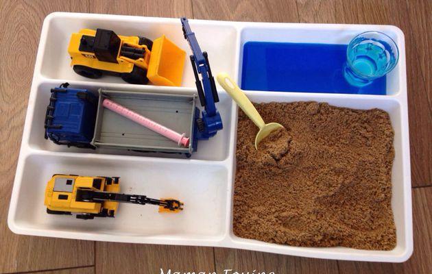 Bac sensoriel : Travaux dans le sable
