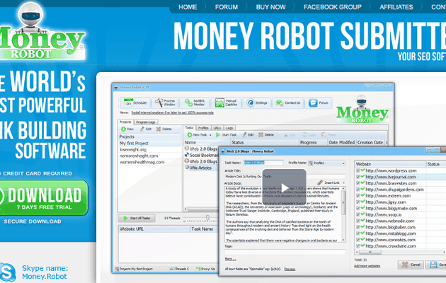 Money Robot Submitter is the most powerful SEO automation tool designed to publish your content