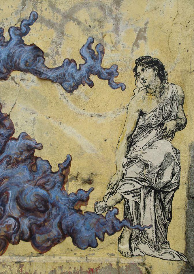 """""""Palimpseste"""" par Zilda et Ro (détail), Rennes, France."""