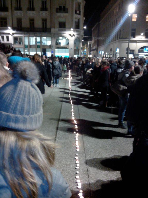 Mobilisation spontanée et silencieuse à Saint-Etienne ce jeudi 07 janvier 2015
