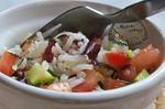 Salade de riz de Camargue, courgettes, tomates, ciboulette et algues