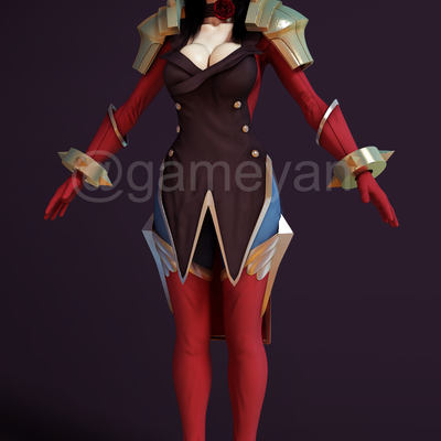 Create your 3D Female Fantacy Warrior Character Model and Texturing by GameYan Studio