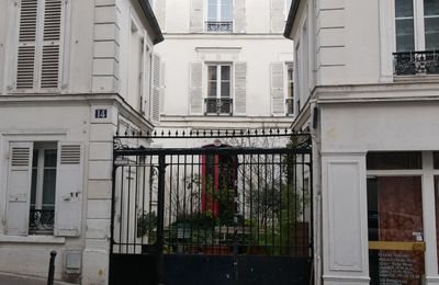 14 rue Nicolet. Verlaine, Rimbaud, Debussy. RueMeurt d'Art.