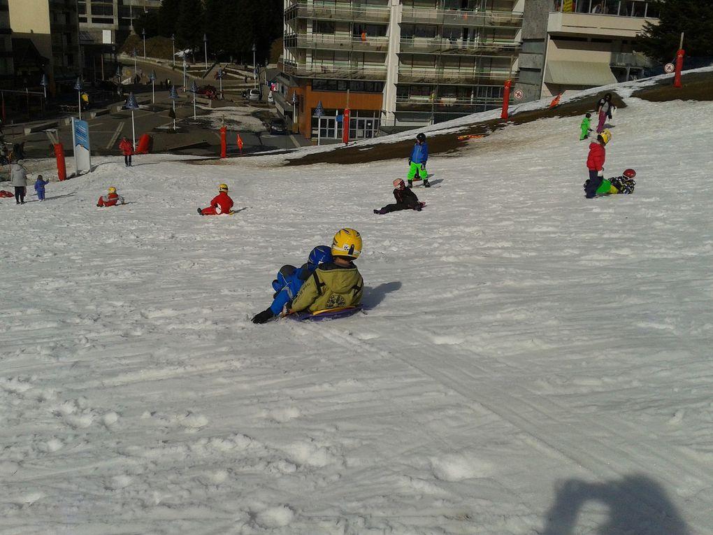 Luge après le ski!