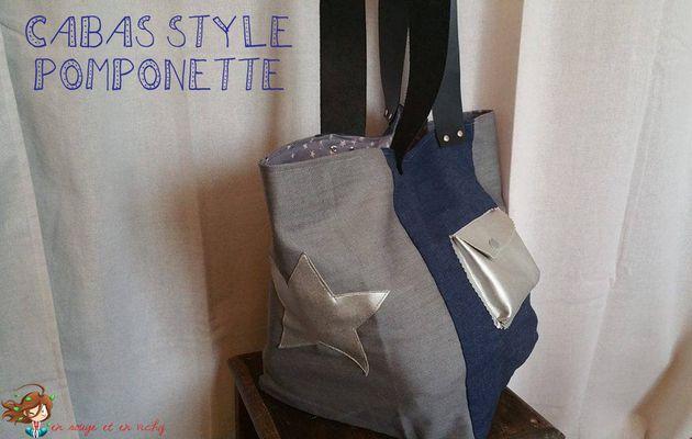 """Le cabas """"style"""" Pomponette"""