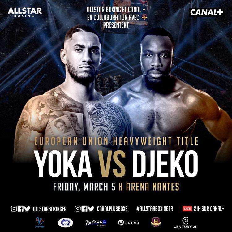 Tony Yoka face à Joël Tambwe Djeko pour le titre de champion de l'Union Européenne des poids lourds ce soir sur CANAL+