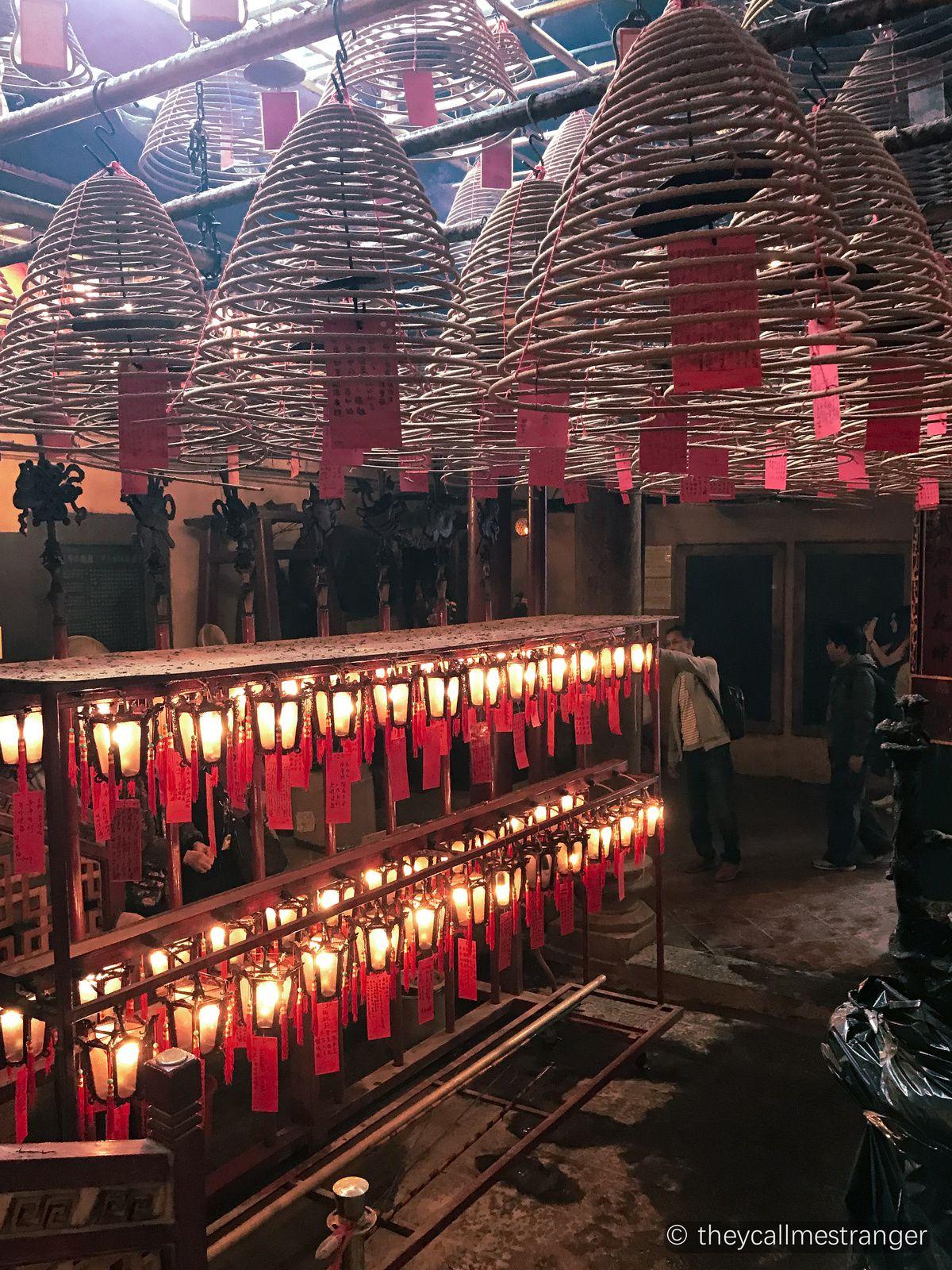 Le temple Man Mo 文武廟, Hong Kong 香港