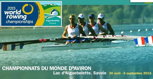 Championnat du monde d'aviron à Aiguebelette.