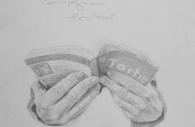 compagnon lecteur dessin au crayon à papier