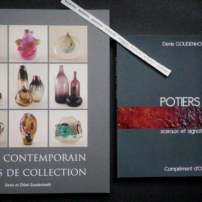 Deux ouvrages de Denis GOUDENHOOFT, pour les amateurs, les collectionneurs, les marchands… de verre et de céramique.