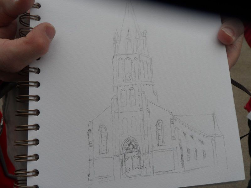 """""""Croquis d'extérieur"""" sur St Sébastien"""