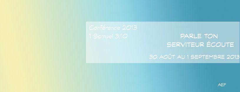 """# Conférence AEF : (Thème)""""Parle ton serviteur écoute"""" #"""