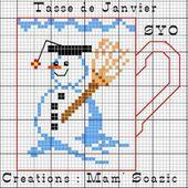 Le calendrier de tasses : Janvier - Chez Mamigoz