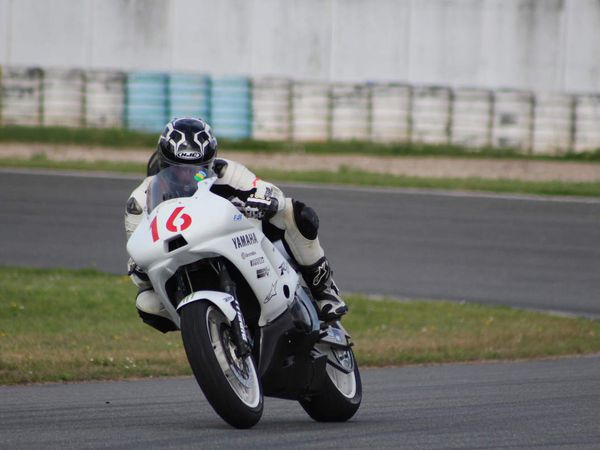 Moto n° 16 blanche