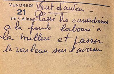 Vendredi 21 octobre 1960 - rouler l'avoine