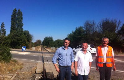 Visite de la voie ferrée Gardanne / Carnoules par FM Lambert et JY Petit ...
