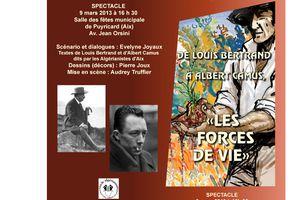 De Louis Bertrand à Albert Camus - Spectacle 2013 : 1er entretien