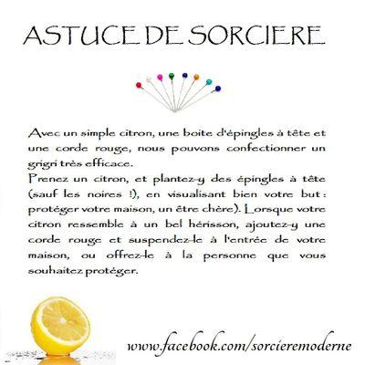 Astuce de Sorcière : Citron pour la Protection