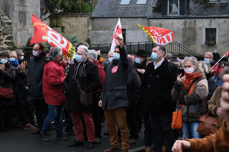 Photo Pierre-Yvon Boisnard - Manif pour la régularisation des sans-papiers, 19 janvier 2021, Morlaix