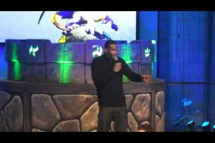 Amar'e Stoudemire Big Man with Small Fry at Skylanders: Spyro's Adventure Video Game Launch
