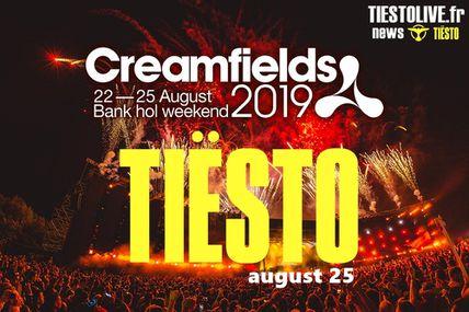 Tiësto vidéo, photos | Creamfields | Daresbury, UK - august 25, 2019