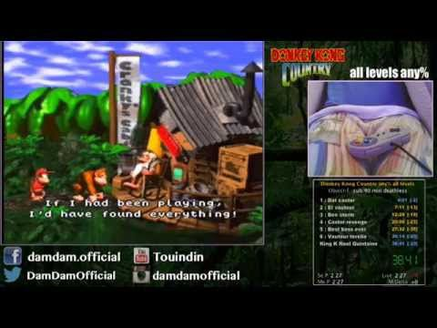 Donkey Kong Country SPEEDRUN : all levels any%