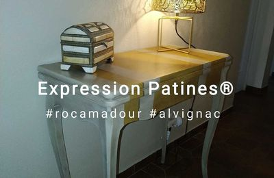 Une vieille table de jeu, sauvée de la casse .. #relooking #expressionpatines #rocamadour